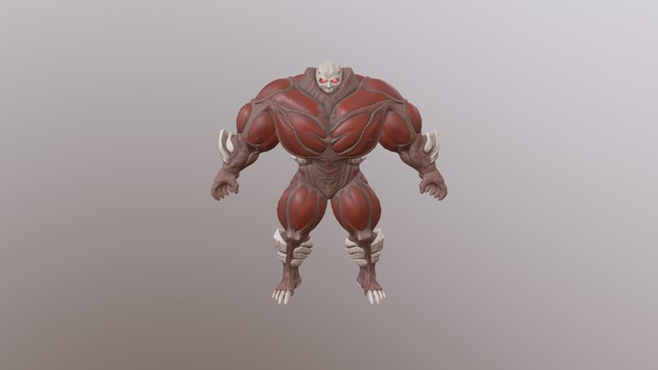 Blood Golem 3D Model