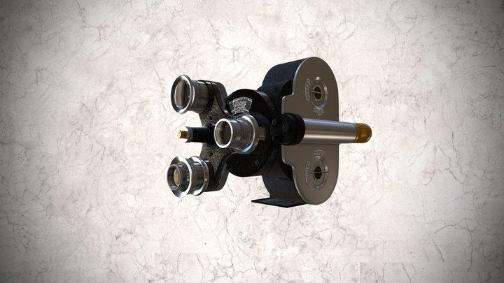 Cámara tomavistas Bell & Howell de 35mm 3D Model