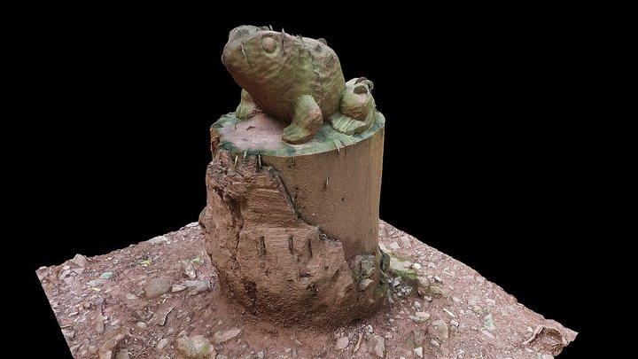 Frog coin tree, Pressmennan Wood, East Lothian 3D Model