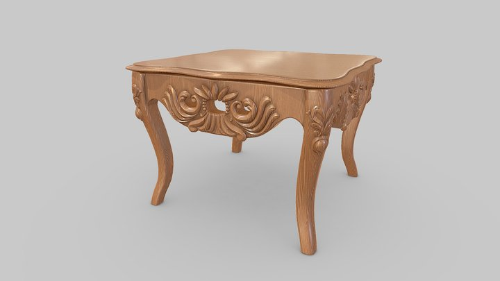 Oriental Classical Table 3D Model