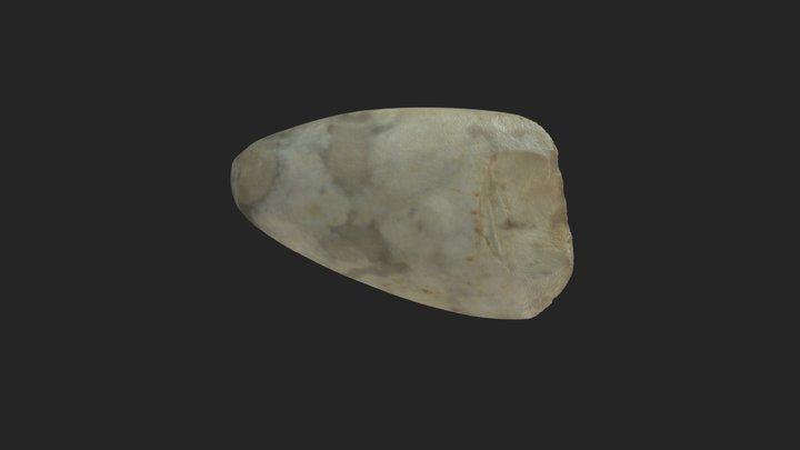 Neolithic Polished Flint Axe 3D Model