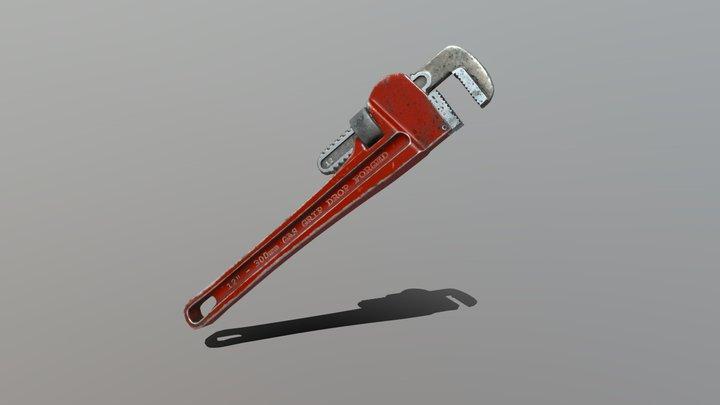 Monkey Wrench 3D Model