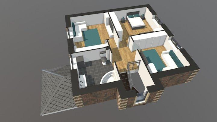 Проект «Уютный» 2 этаж 3D Model