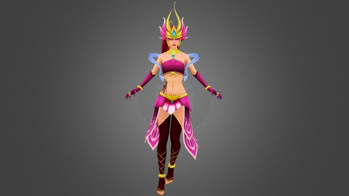 Order of the Lotus - Syndra 3D Model
