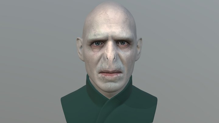 Lord Voldemort bust for full color 3D printing 3D Model