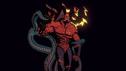 Hellboy - Textured 3D Model