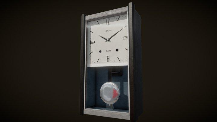 90's Old wall clock 3D Model