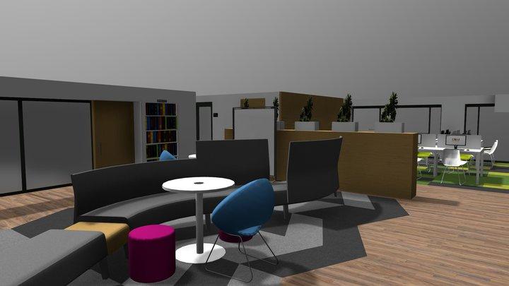 CRAI Nivel Mezzanine / Sede Claustro 3D Model