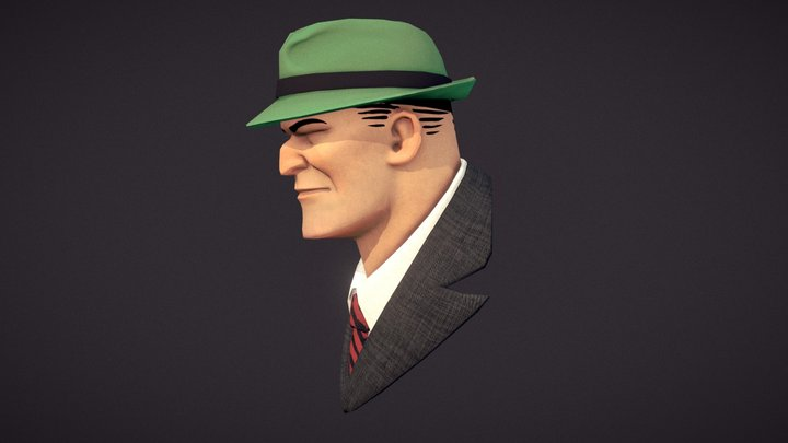 Dick Tracy Bust 3D Model