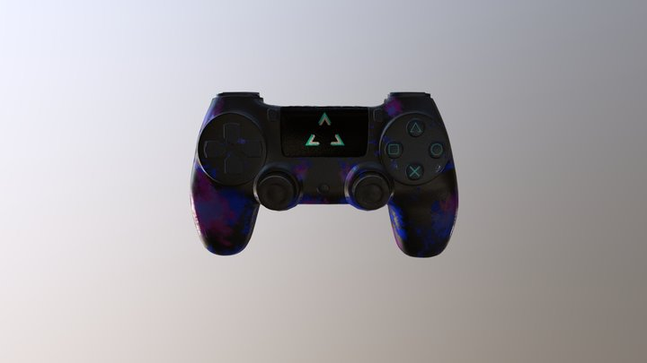 Dualshock 4 (custom version) 3D Model