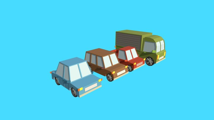 Low Poly - Cars 3D Model