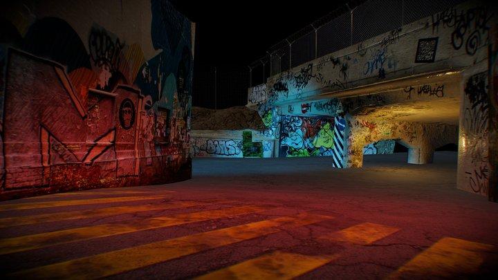 City slum scene 3D Model