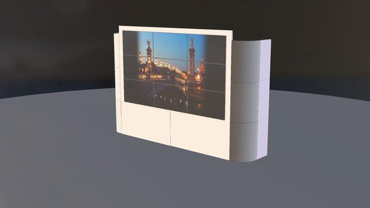 habillage ecran Led 3D Model