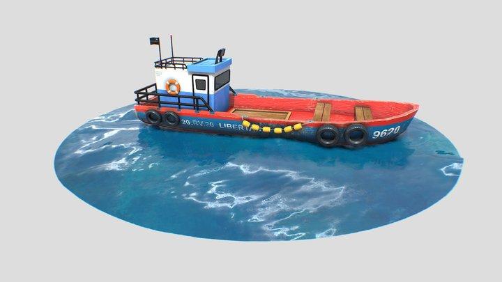 Fishing Boat 3D Model