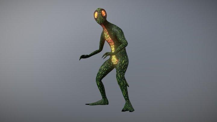 Lizard Creature 3D Model