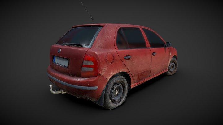 Old Hatchback Car 3D Scan 3D Model