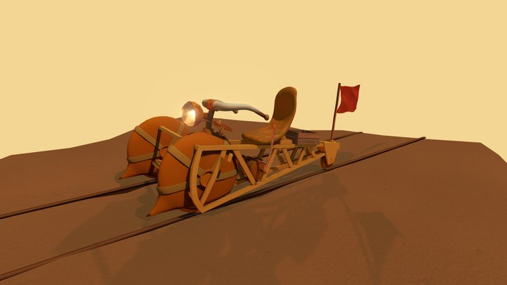 rail in the sand 3D Model
