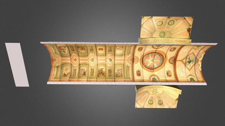 Dalaguete Church Ceiling Paintings 3D Model