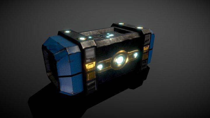 futuristic crate 3D Model