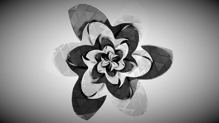 Flower Pattern - Inktober 3D Model