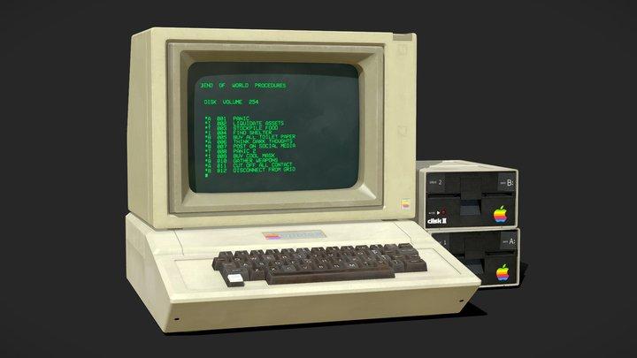 Apple II Computer 3D Model
