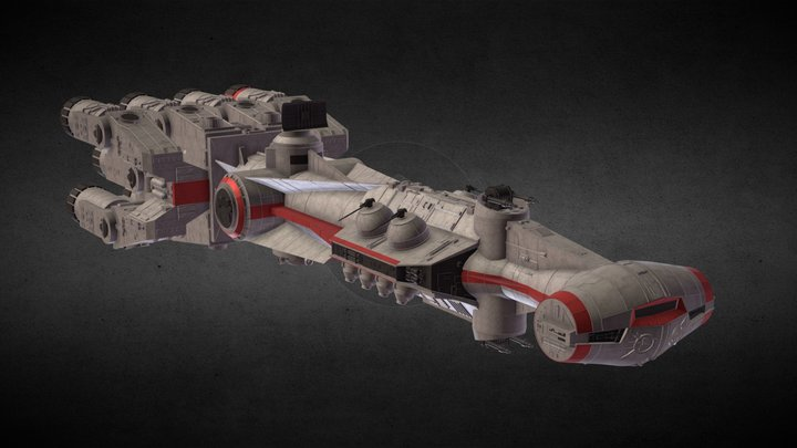 Star Wars: CR-90 3D Model