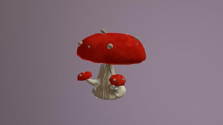 02 Mushroom TEXTURE 3D Model