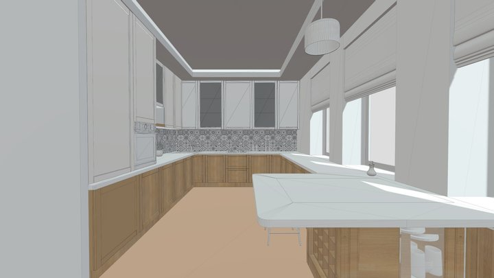 KITCHEN F 3D Model