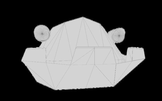 Blank early stage crane head 3D Model