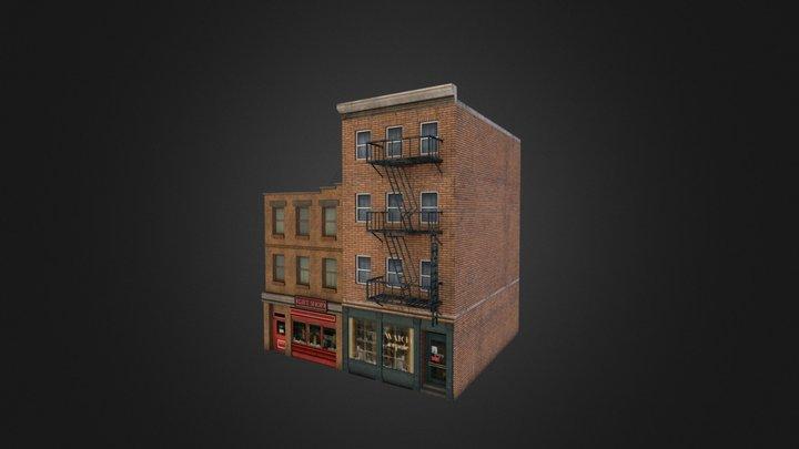 Retro City Pack Building 04 3D Model