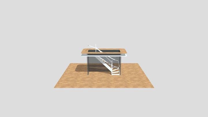 Bygghemma med r�cke 3D Model