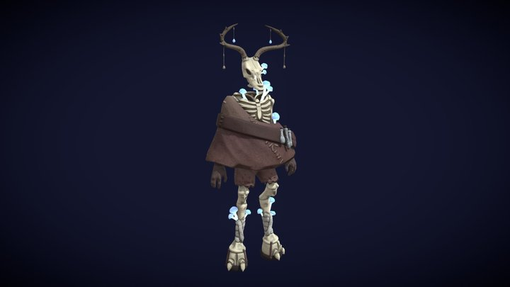 Skeleton without pose 3D Model