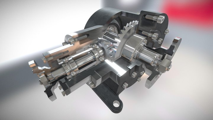 Gearbox (Conical) 3D Model