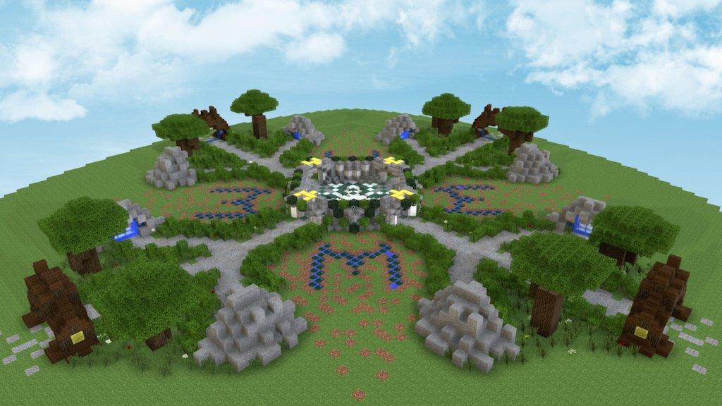 Simple Server Spawn Minecraft Building Download Free 3D model
