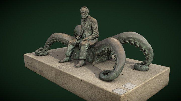 Sculpture of JULES VERNE, Vigo (Pontevedra) 3D Model