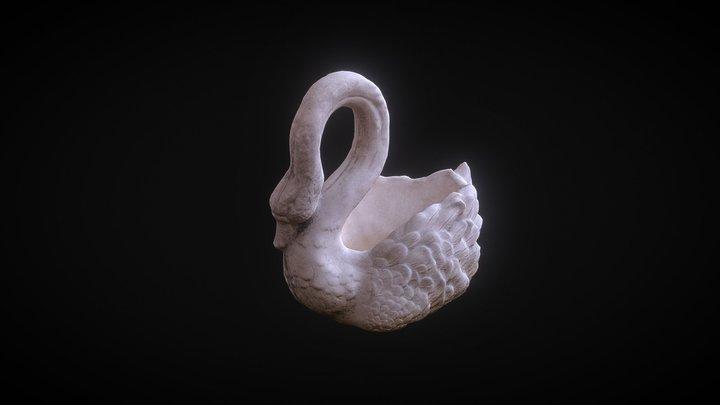 Swan sculpture 3D Model