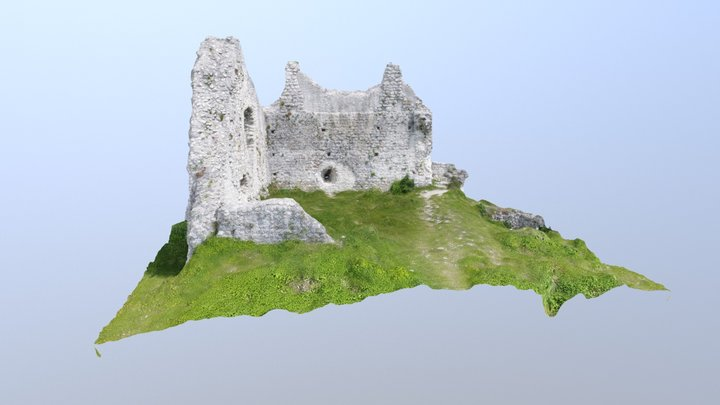Ruines du Chateau de Chaumont (74) - 1cm HD 3D Model