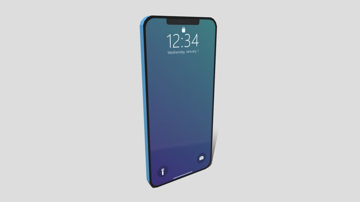 Low Poly iPhone X 3D Model