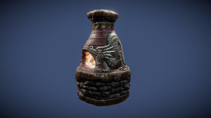 """Dragon cave"" (furnace) 3D Model"