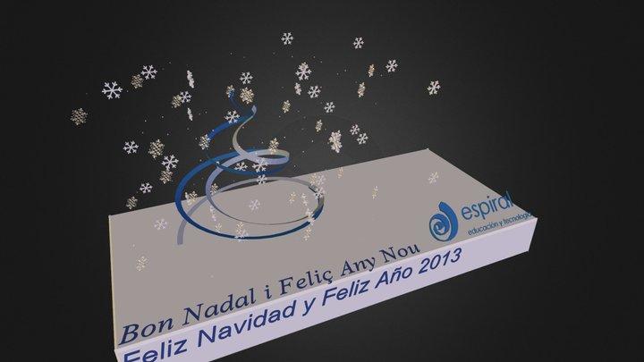 Felicitacion Espiral 3D Model