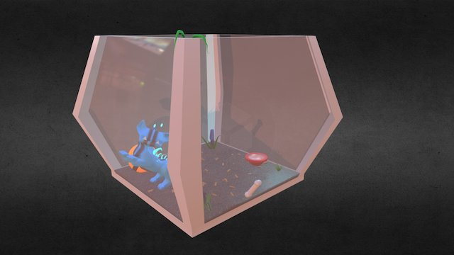 Alien Cage Color 3D Model
