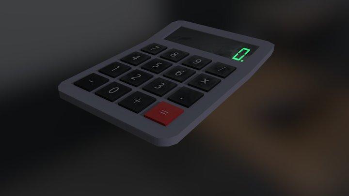 A lowpoly calculator 3D Model