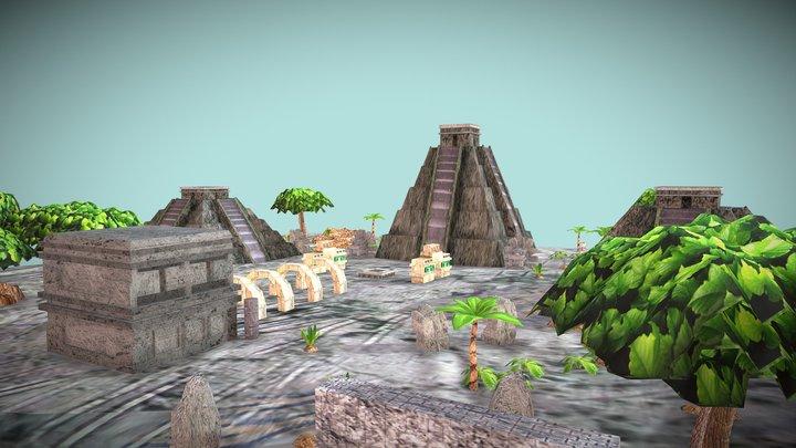 Aztec City 3D Model