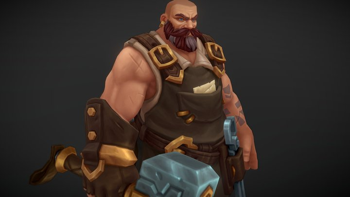 Rammus, the Blacksmith 3D Model