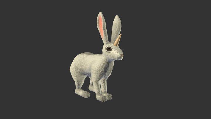 Unicorn Rabbit 3D Model