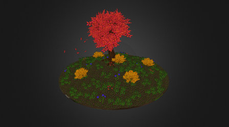 Assignment 01 Hand-painted vegetation 3D Model