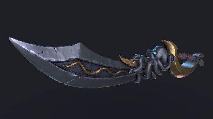 Stylized Pirate Sword 3D Model