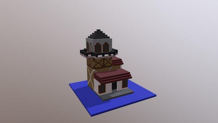 Voxel Maiden's Tower 3D Model