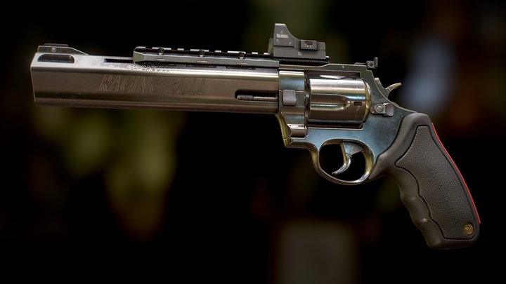 Taurus 454 Raging Bull 3D Model