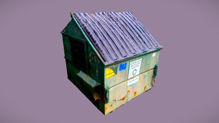Graffiti'd Dumpster (Photogrammetry) 3D Model